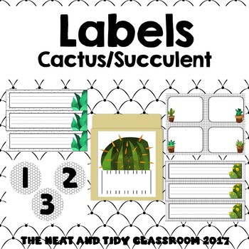 Labels {Succulent Cactus}