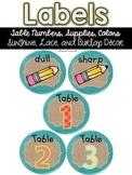 Editable Labels {Sunshine, Lace, & Burlap Decor.}