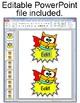 Superhero Theme Owl Labels and Name Tags