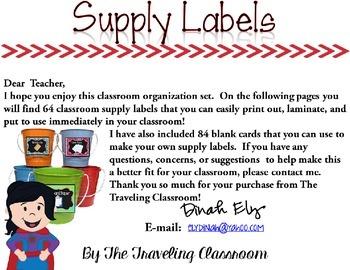 Labels {Chalkboard Super Hero Theme}