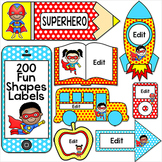 Superhero Theme Classroom Labels