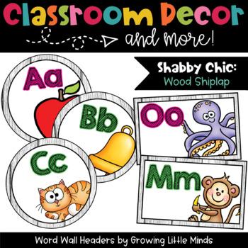 Labels:  Word Wall- Shabby Chic Rustic Shiplap Wood classroom decor