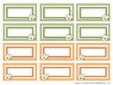 Labels - adjustable, printable (for school boxes or word walls)