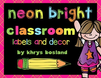 Labels and Decor {Neon Bright} {Library, Supply, and Math Labels} {Schedule}