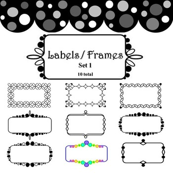 Labels and Frames - Set 1, 10 count