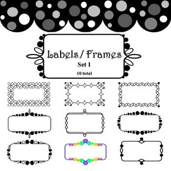 Labels and Frames - Set 1, 10 count
