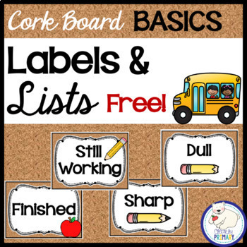 Labels and After School Transportation Lists: Free