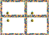 Labels and Name Frames - Eric Carle border with bee