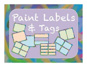Labels and Tags Paint Background