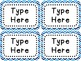 Labels and/or Name Tags - Blue & White Chevron {Editable}