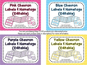 Labels and/or Name Tags - Combo Pack 2 {Editable}
