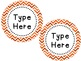 Labels and/or Name Tags - Orange & White Chevron {Editable}