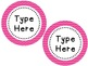 Labels and/or Name Tags - Pink Chevron {Editable}