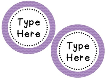 Labels and/or Name Tags - Purple Chevron {Editable}