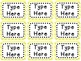 Labels and/or Name Tags - Yellow & White Chevron {Editable}