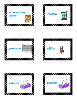 Labels around the classroom- Spanish