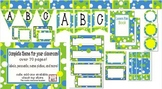 Bubble Blue! Labels, banners, and more! Classroom theme bundle!