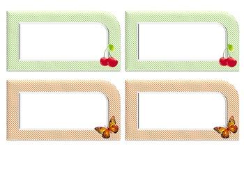 Labels: cherries & butterflies