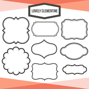 Labels clip art - layered label templates