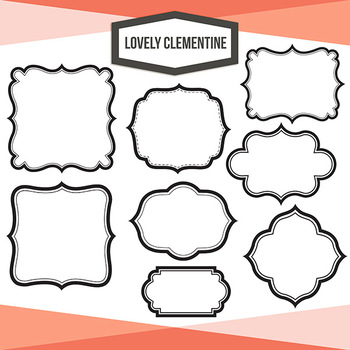 Labels clip art - layered label templates - set 2