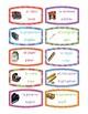 Labels del salón bilingüe