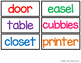 Labels for Around the Classroom FREEBIE