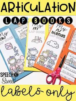 Labels for Articulation Lap Books {Freebie!}