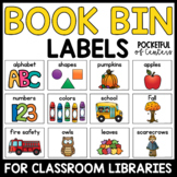 Library Labels for Book Center Bins