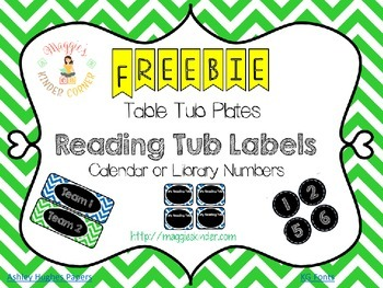 Labels for Calendar, Book Tubs, Library or Calendar Numbers