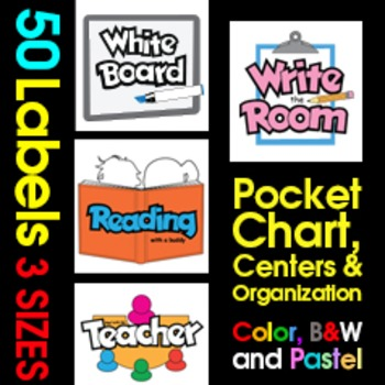 Labels for Centers, Pocket Chart and Classroom Organization
