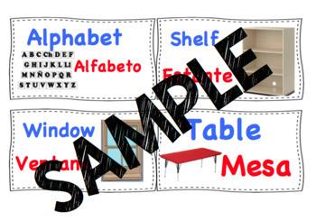 Classroom Labels Dual Language