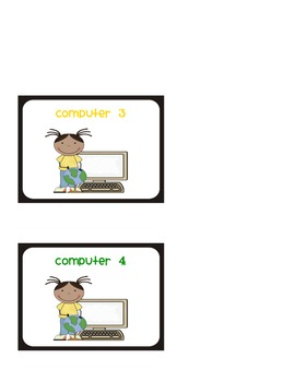 Classroom Computers Labels