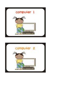 Classroom Computers Labels