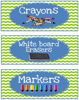 Labels for Drawers