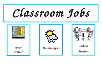 Labels for Classroom Job Chart