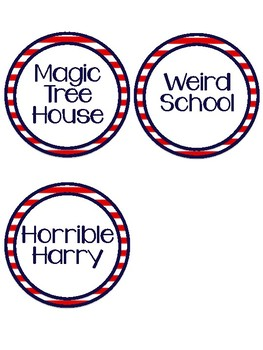 Labels for Classroom Library