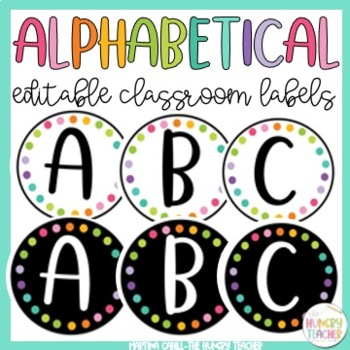 Labels for Classroom Library {Alphabetical Labels}