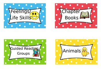 Labels for Classroom Library FREE