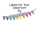 Labels for Classroom Organization