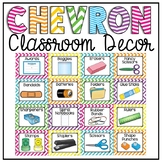 Classroom Supply Labels {Chevron Classroom Decor Theme}