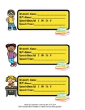 Labels for Communication Books- Hearing Impaired Students
