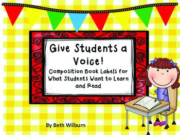 Labels for Composition Books- What We Want to Learn