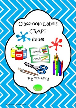 Labels for Craft Items Blue