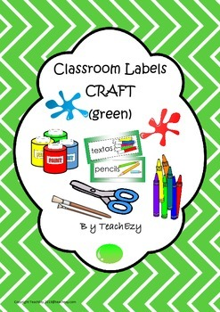 Labels for Craft Items Green
