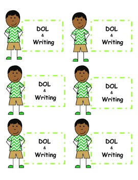Labels for Daily Language & Writing