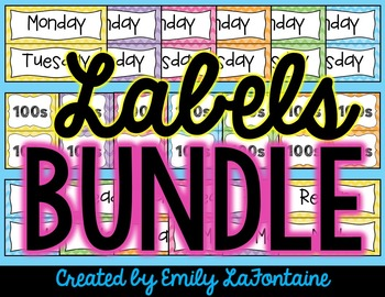 Labels for Days of the Week, Subjects, and Book Baskets -