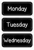 Labels for Days of the Week and Months of the Year