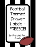 Labels for Drawers - Football or Sports Themed: A FREEBIE!