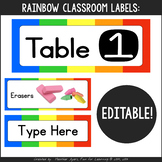 Rainbow Decor:  EDITABLE Labels for Everything!