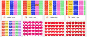 Labels for Happy Planner-cricut